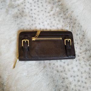 Michael Kors Dark Brown Leather Wallet